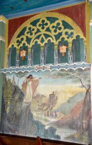 The Temptation of Jesus mural at The Painted Church