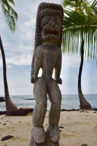 Statue picture at Pu'uhonua o Honaunau National Historical Park