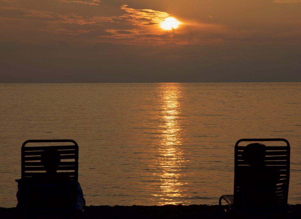 Sunset at Anaeho'onalu Beach