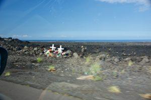 Roadside memorial on the Big Island.