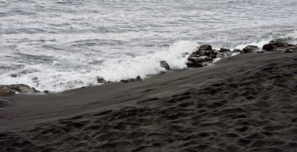 Panalu'u Black Sand Beach in Hawaii