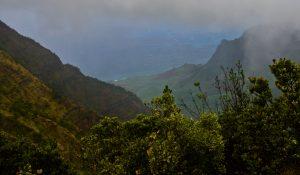 The view at Pu'u O Kila Lookout.