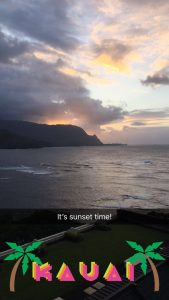 A beautiful Hawaiian sunset courtesy of Kauai.